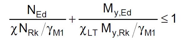 Vergelijk 6.66 volgens NEN-EN 1993-1-1 zoals verwerkt in de rekensoftware RFEM